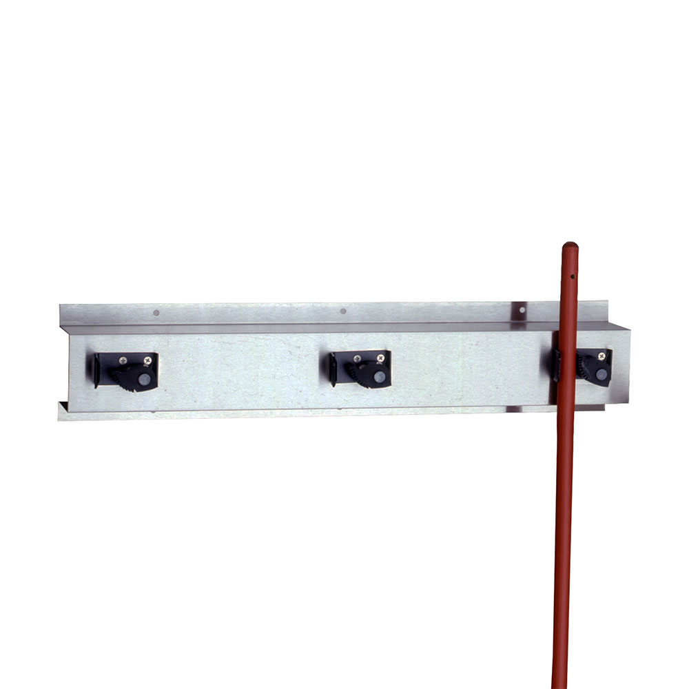 "Bobrick B223X24 Mop & Broom Holder, 24""Long"