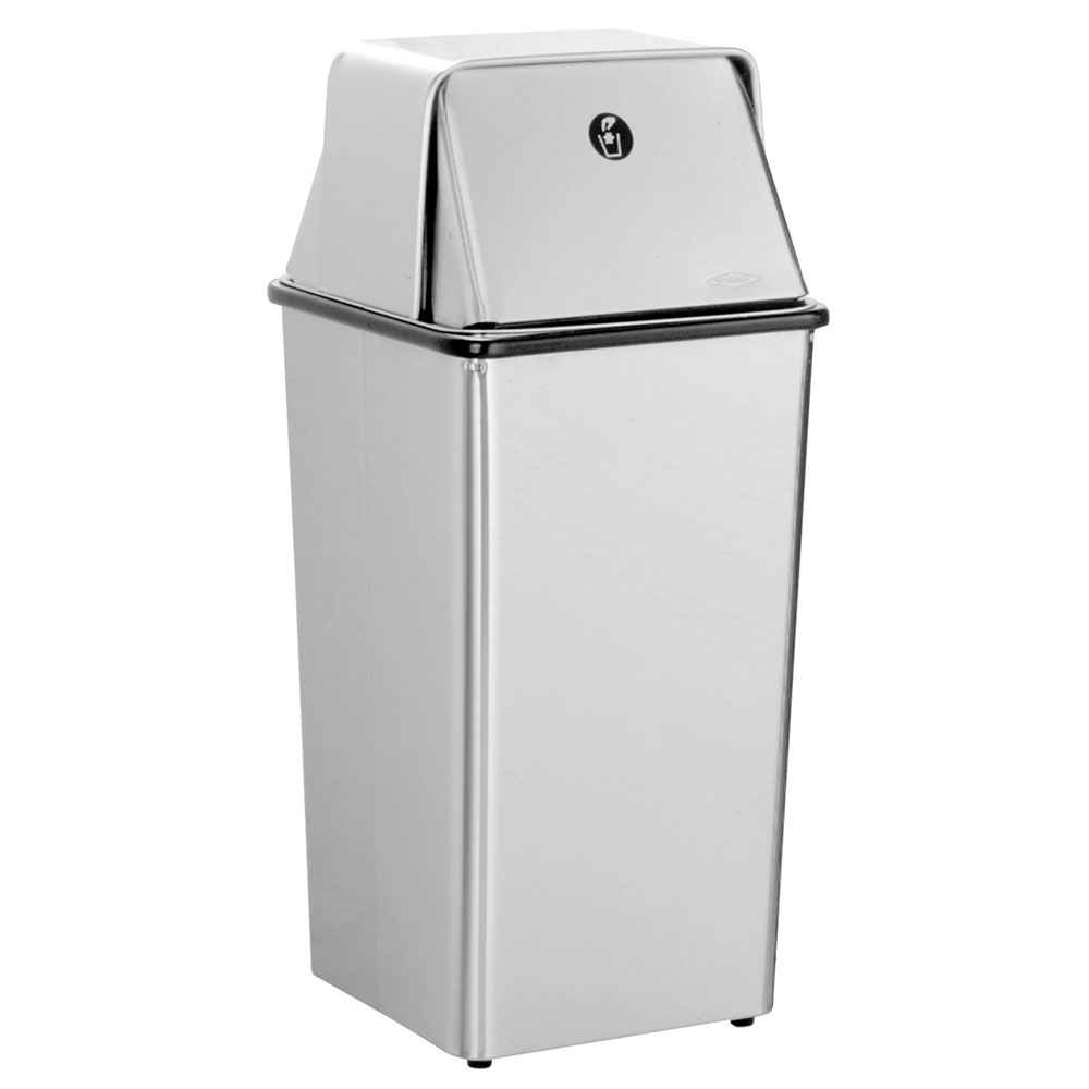 Bobrick B2250 Floor Standing Waste Receptacle with Top, 13 Gallon Capacity