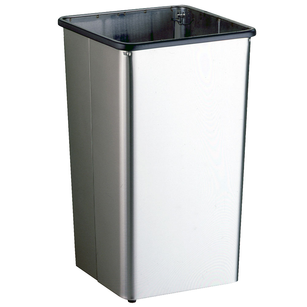Bobrick B2280 21-Gallon Standing Bathroom Trash Can