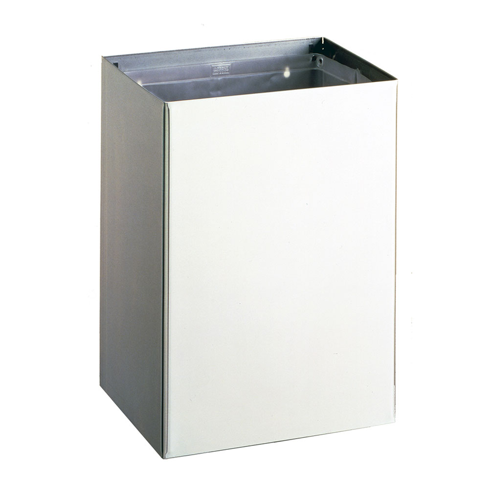 Bobrick B277 Contura Series Surface Mounted Waste Receptacle, 12.75 Gallon Capacity