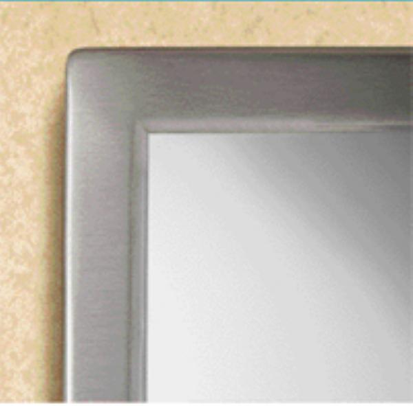 Bobrick B29081836 B-2908 Series Welded Frame Tempered Glass Mirror, 18 in x 36 in