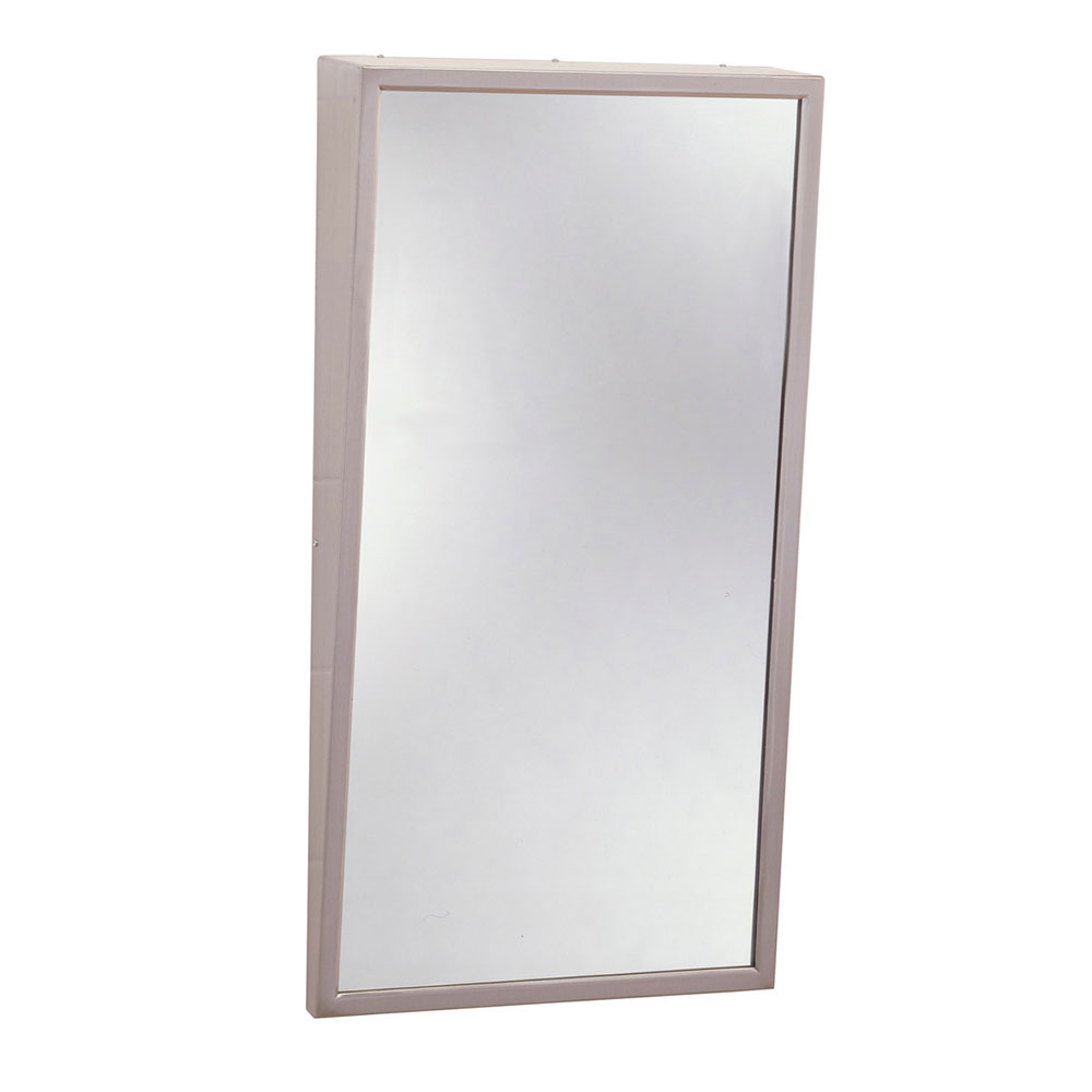 "Bobrick B2931830 B-293 Series Fixed-Position Tilt Mirror, 18"" X 30"""