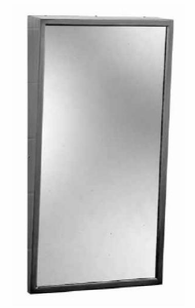 Bobrick B2931630 B-293 Series Fixed-Position Tilt Mirror, 16 in x 30 in