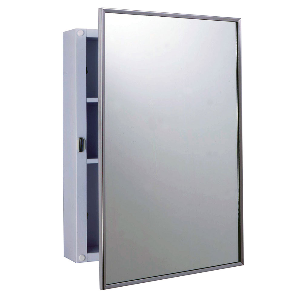 Bobrick B-297 Surface Mounted Medicine Cabinet, White Ena...