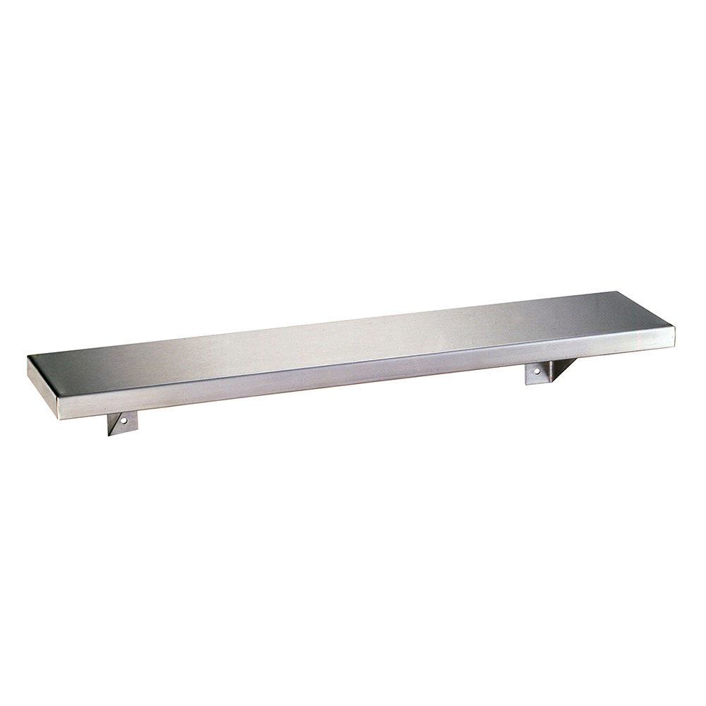 "Bobrick B-298X18 Stainless Shelf, 8 x 18"" Long"