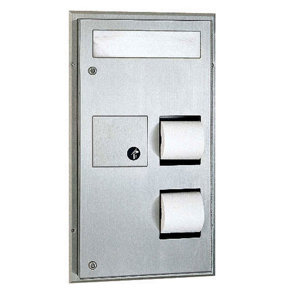 Bobrick B357 Classic Series Partition Mounted Combination