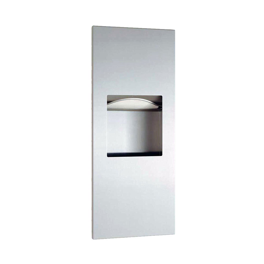 Bobrick B36903 Trimline Series Recessed Paper Towel Dispenser / Waste Receptacle, 29-1/8 in H