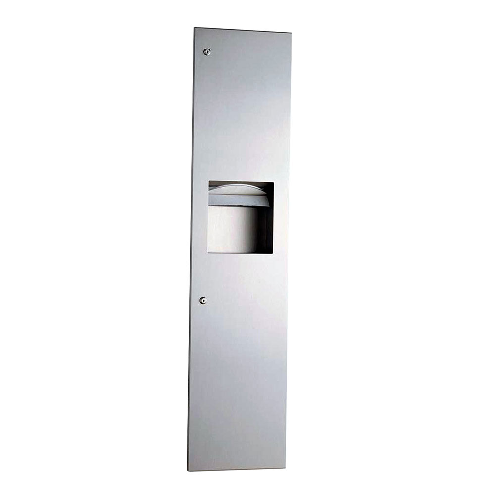Bobrick B-38032 Semi-Recessed Paper Towel Dispenser / Waste Receptacle, Stainless