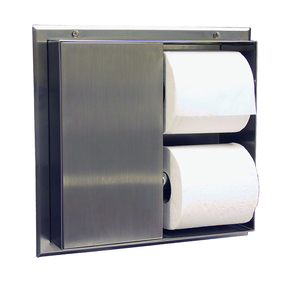 Bobrick B386 Partition Mounted Multi Roll Toilet Tissue Dispenser
