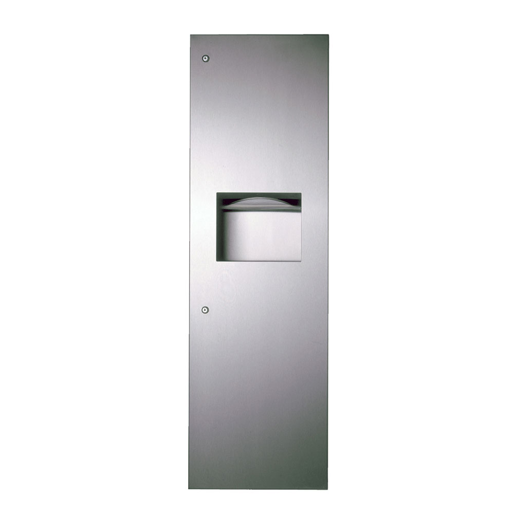 "Bobrick B39003 TrimLine Series Paper Towel Dispenser / Waste Receptacle, 17-3/16""W"