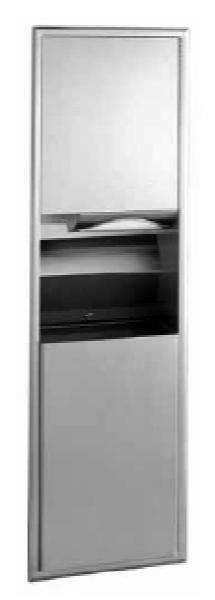 Bobrick B3900 Classic Series Recessed Paper Towel Dispenser / Waste Receptacle