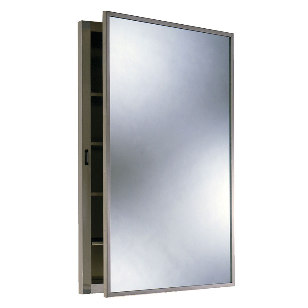 Bobrick B398 Recessed Medicine Cabinet, Stainless Steel