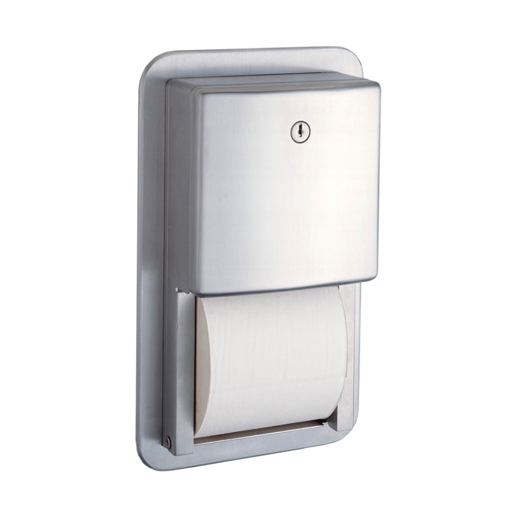 Bobrick B4388 Contura Series Recessed Mult-Roll Toilet Tissue Dispenser
