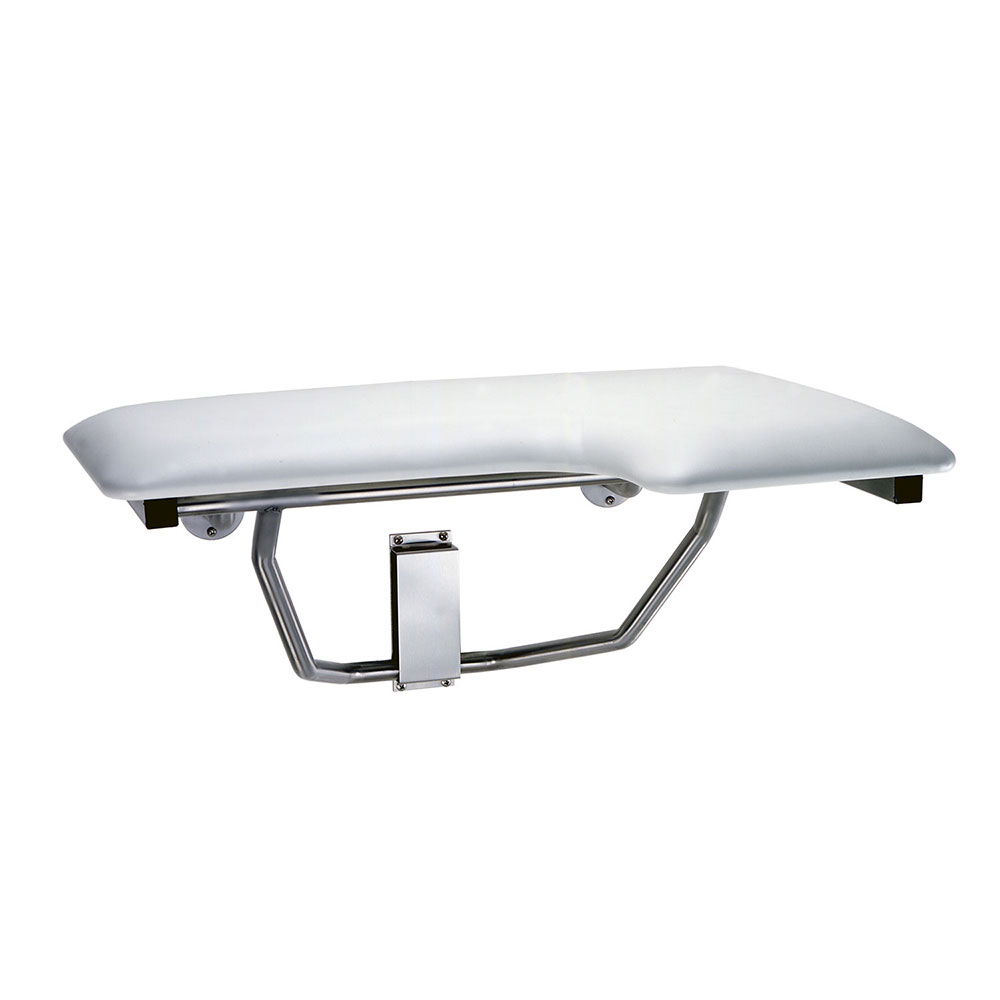 Bobrick B518 Folding Shower Seat, Left Hand Seat