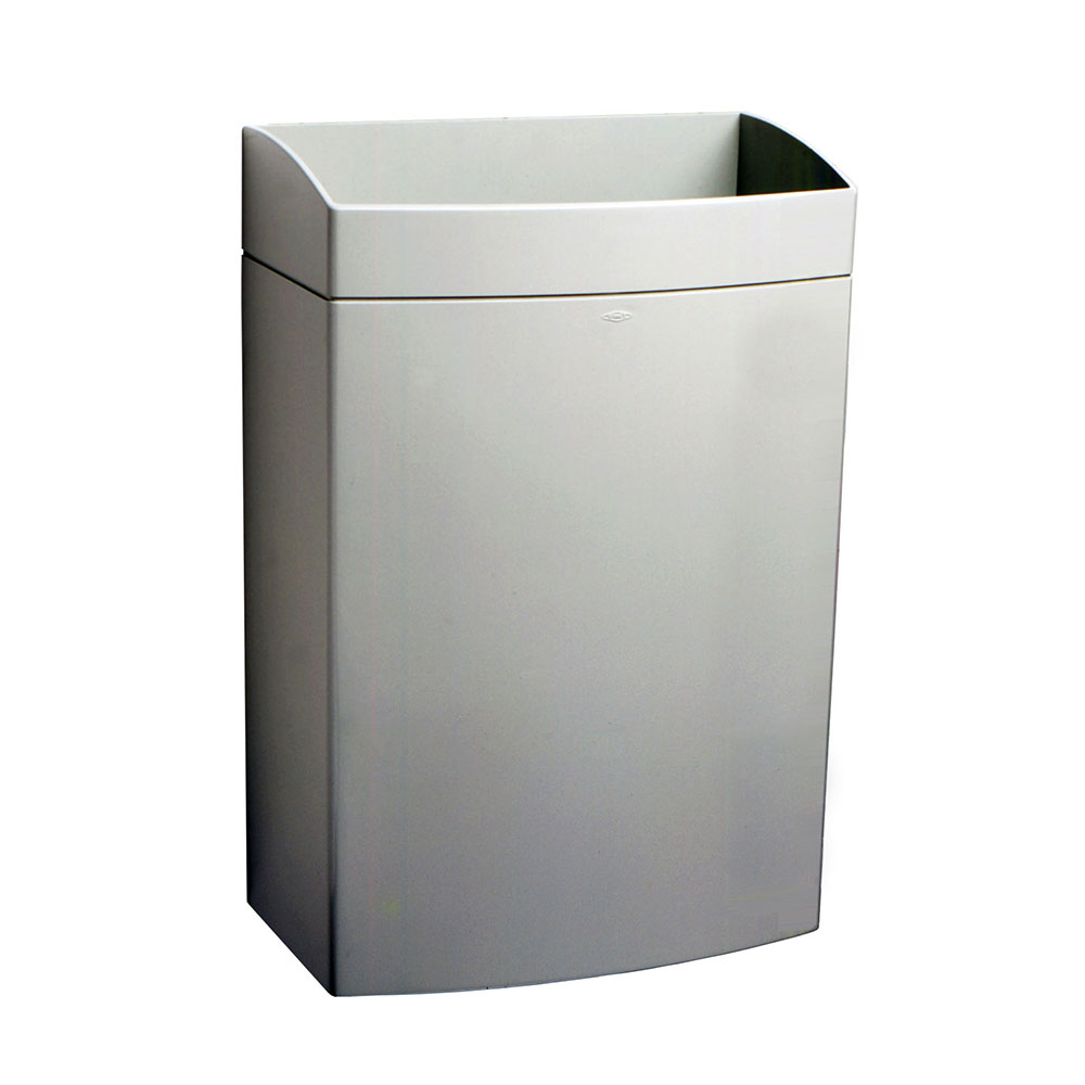 Bobrick B5277 Matrix Series Surface Mounted Waste Receptacle, 13 Gallon Capacity
