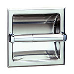 Bobrick B6677 Recessed Toilet Tissue Dispenser, Holds 1 Roll, Satin Stainless