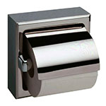 Bobrick B-66997 Surface Mounted Toilet Tissue Dispenser w/ Hood, Single, Satin