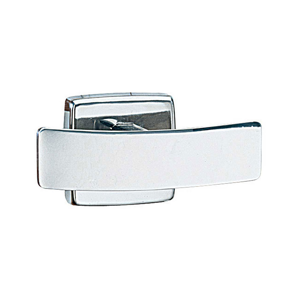 Bobrick B672 Double Robe Hook, Polished Stainless