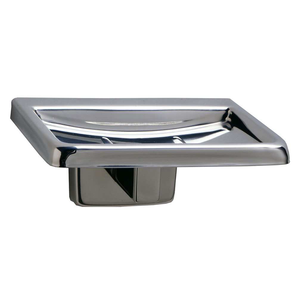 Bobrick B-6807 Classic Series Surface Mounted Soap Dish, Satin Finish