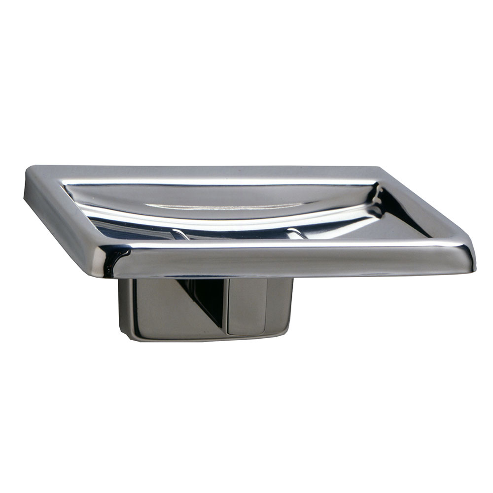 Bobrick B680 Classic Series Surface Mounted Soap Dish, Polished Stainless