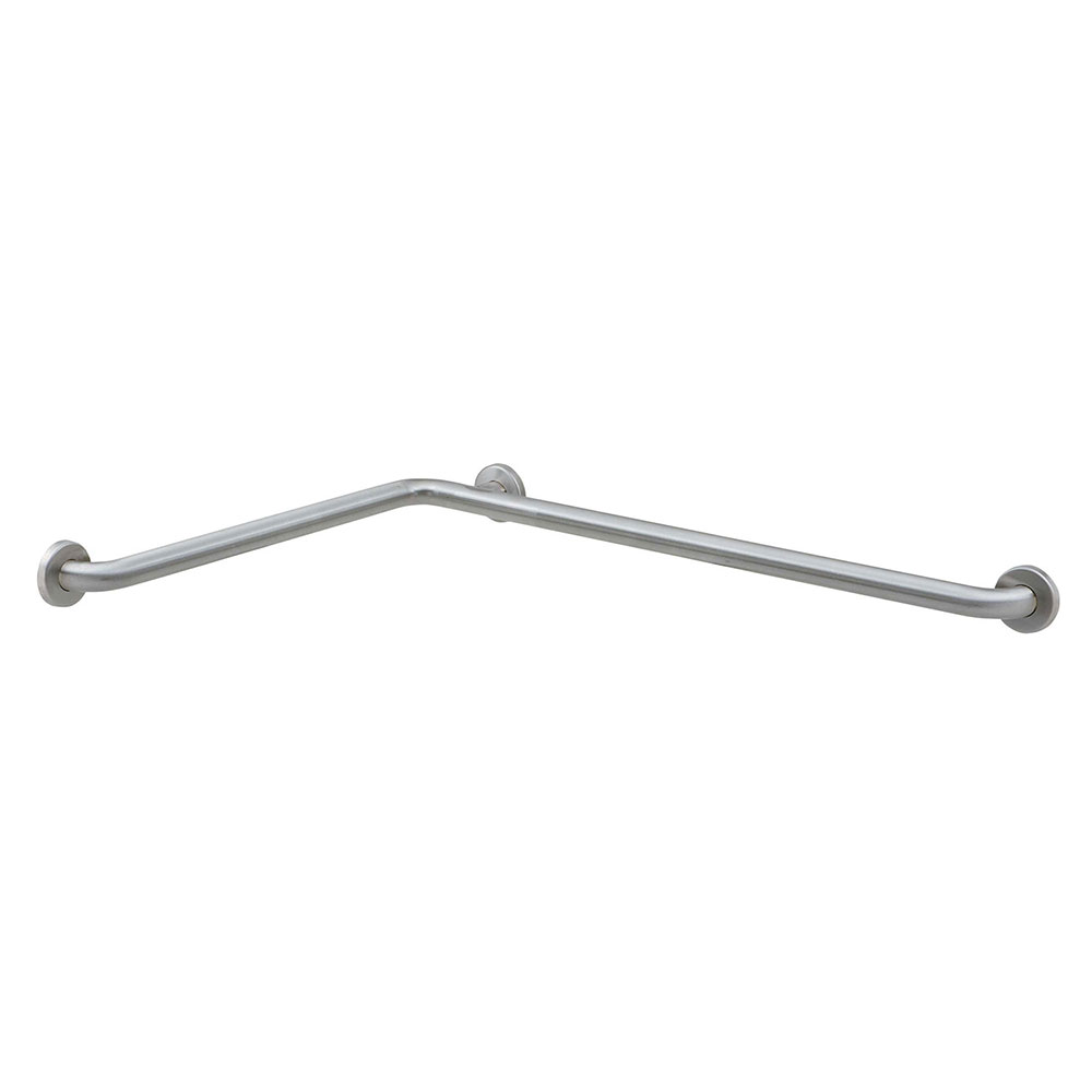 "Bobrick B-6861.99 Two Wall Grab Bar with Peened Gripping Surface, 1-1/2"" Diam 24""W, 36""D"