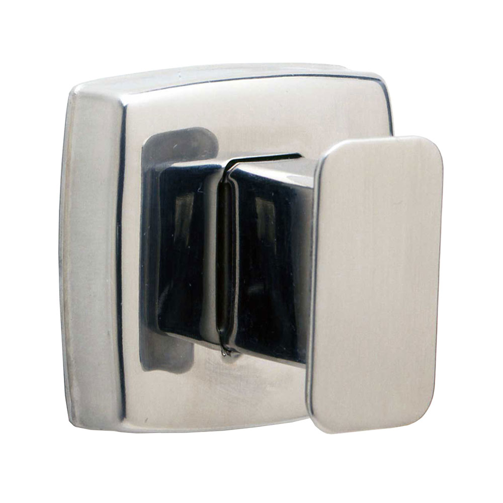Bobrick B7671 Classic Series Single Robe Hook, Polished Stainless