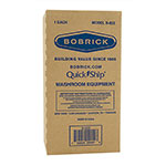 "Bobrick B822 Counter Mounted Soap Dispenser, 4"" Spout for Counters Up To 4"" Thick"