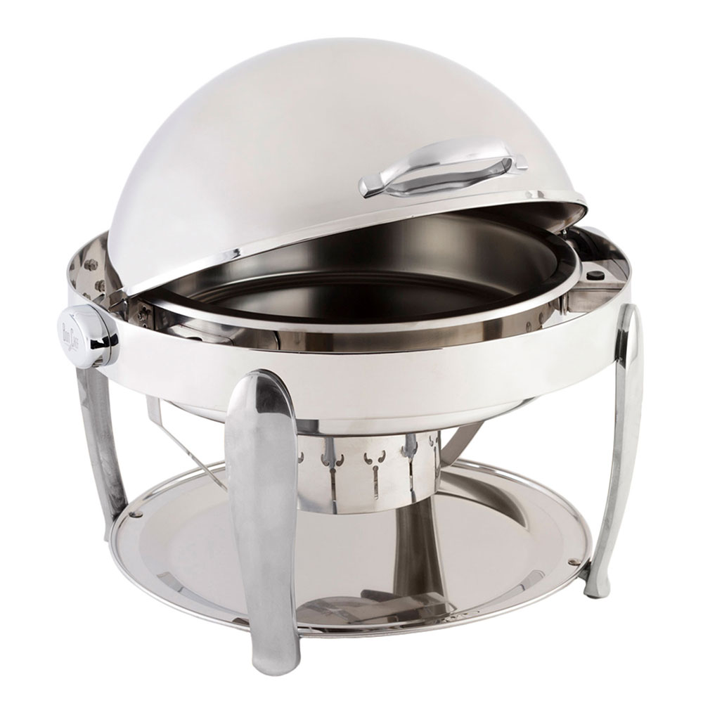 Bon Chef 10001CH Round Chafer  w/ Roll-Top Lid & Chafing Fuel Heat