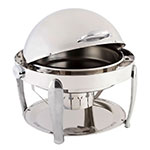 "Bon Chef 10001S 21"" Round Manhattan Non-Dripless Chafer w/ Vented Lid, Silver"