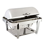 Bon Chef 10040S Full Size Chafer w/ Roll-top Lid & Chafing Fuel Heat