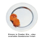 Bon Chef 1020P 6-in Rimmed Bread & Butter Plate, Aluminum/Pewter-Glo