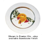 Bon Chef 1022P 11-in Rimmed Dinner Plate, Aluminum/Pewter-Glo