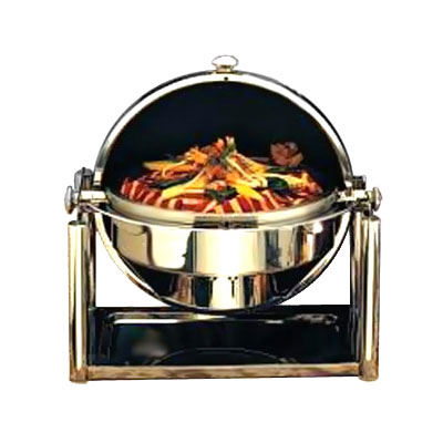 Bon Chef 11001D 2-Gallon Roll-Top Dripless Chafer, Round w/ Stainless Finish