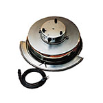 Bon Chef 11002E Front Flange Dripless Water Pan, Round, Stainless w/ Heater