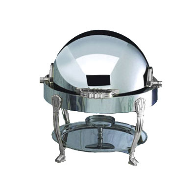 Bon Chef 12014CH 3-Qt Round Roll Down Dripless Chafer, Stainless w/ Chrome