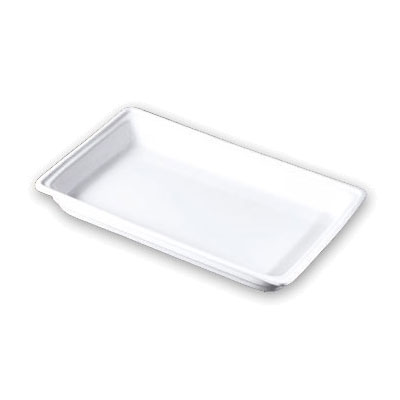 """Bon Chef 12017 20.875"""" Rectangular Chafer Food Pan, Ceramic"""