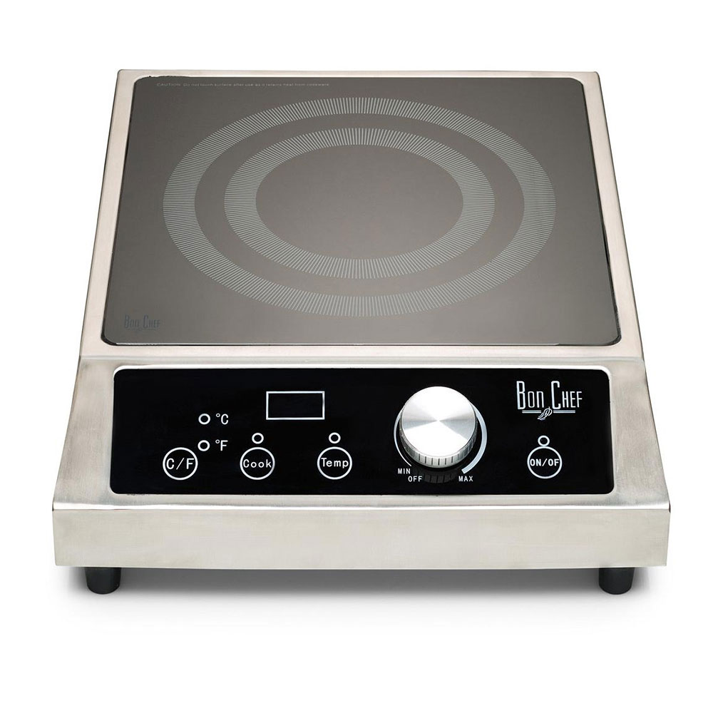 Bon Chef 12084 Countertop Commercial Induction Cooktop w/ (1) Burner, 208-240v/1ph