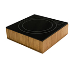 "Bon Chef 12086BOX Square Induction Range Box for 12086, 13.75 x 3.25"", Bamboo"