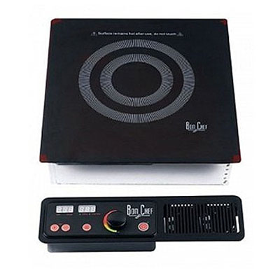 Bon Chef 12086DI Drop-In Commercial Induction Cooktop w/ (1) Burner, 120v
