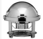 Bon Chef 13010 Round 2-Gallon Roll-Down Chafer, Silver Plated