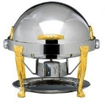 Bon Chef 14009 2-Gallon Round Chafer w/ 24K Gold Plate