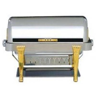 Bon Chef 14040 Rectangular 2-Gallon Chafer w/ 24K Gold Plate, Aurora