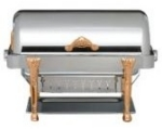 Bon Chef 17040G Full Size Chafer w/ Roll-top Lid & Chafing Fuel Heat