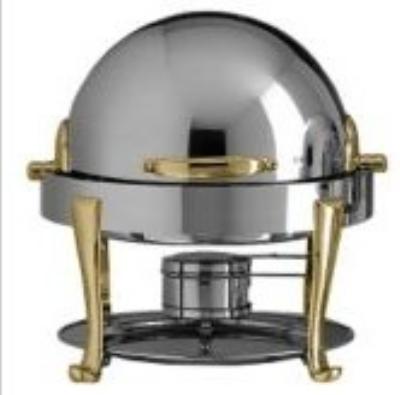Bon Chef 19014G 3-Qt Chafer w/ Gold Plate, Roman