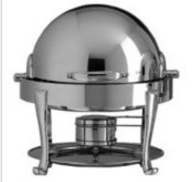 Bon Chef 19014S 3-Qt Chafer w/ Silver Plate, Roman