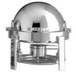Bon Chef 20014S 3-Qt Chafer w/ Silver Plate, Contemporary