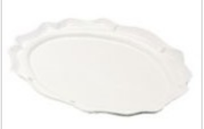 "Bon Chef 2027P Oval Platter, 12.5 x 16"", Aluminum/Pewter-Glo"