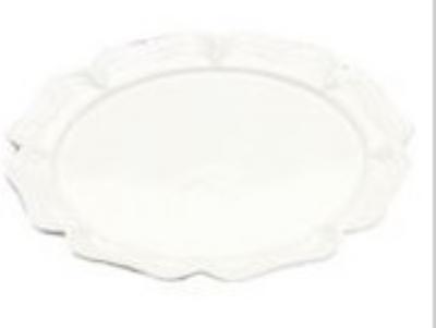 """Bon Chef 2062S WH 20"""" Round Platter, Aluminum/White"""