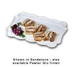"Bon Chef 2097P 15 x 22"" Queen Anne Platter, Aluminum w/ Pewter-Glo"