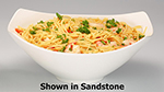 "Bon Chef 2515P 15.75"" Aluminum Gondola Bowl w/ Pewter-Glo Finish"